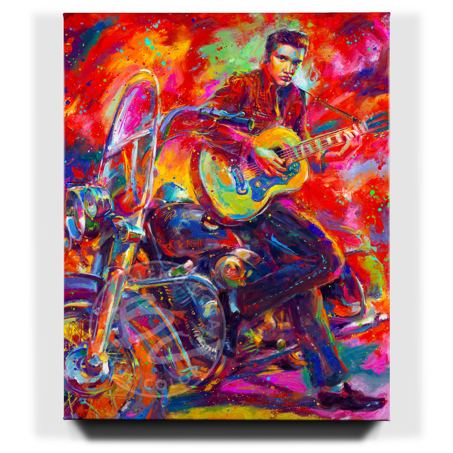The king of rock 39 n 39 roll limited edition canvas for Canvas roll for painting