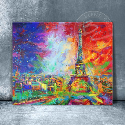 "Eiffel Tower - 11"" x 14"" Floating Acrylic Print"