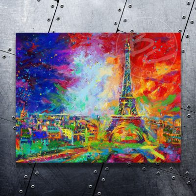 "Eiffel Tower - 11"" x 14"" Floating Metal Print"