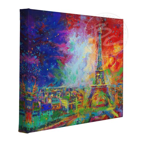 "Eiffel Tower - 11"" x 14"" Gallery Wrapped Canvas"