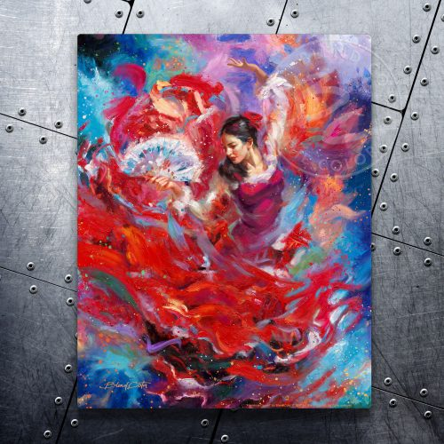 "Flamenco Dancer - 11"" x 14"" Floating Metal Print"