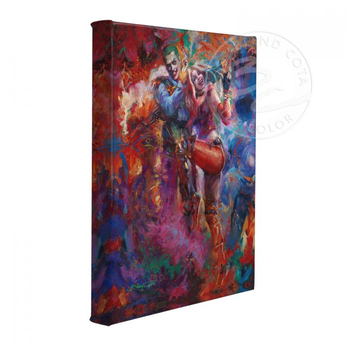 "The Joker and Harley Quinn - 11"" x 14"" Gallery Wrapped Canvas"