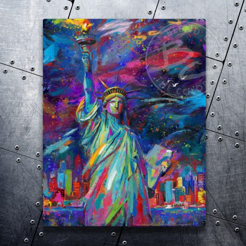 "Vive La Liberte - 11"" x 14"" Floating Metal Print"
