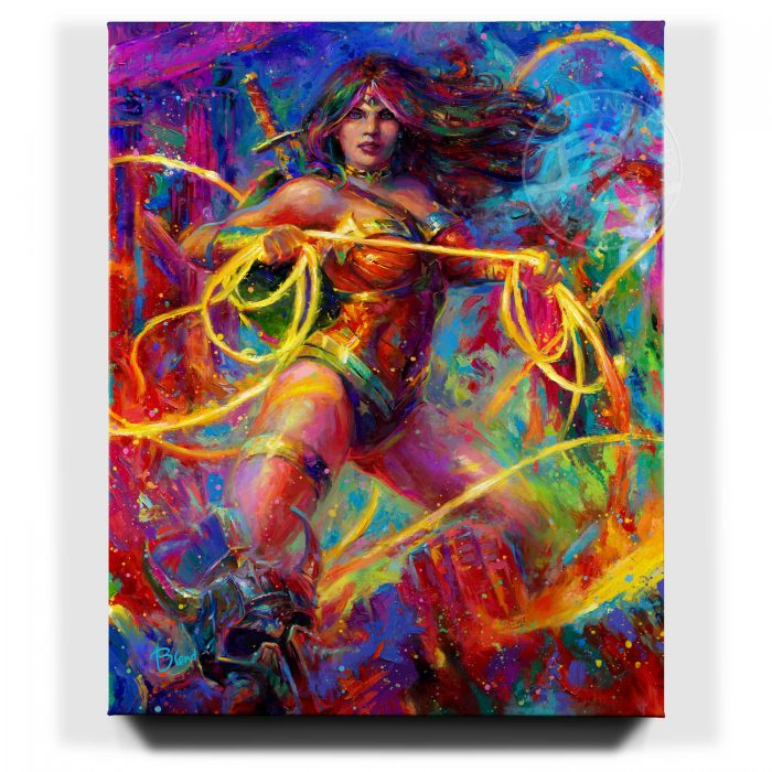 Wonder Woman - Champion of Themyscira - Limited Edition Stretched Canvas