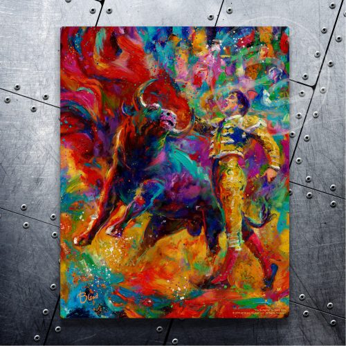 "The Bullfighter - 11"" x 14"" Floating Metal Prints"