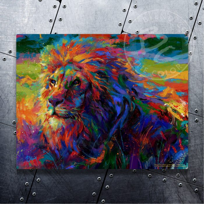 "King of the Jungle - 11"" x 14"" Floating Metal Prints"