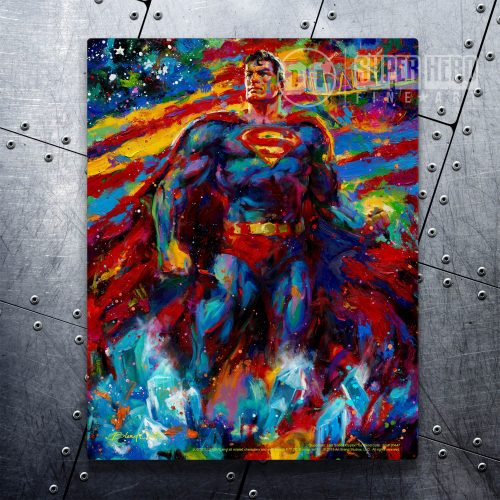 "Superman - Last Son of Krypton - 11"" x 14"" Floating Metal Prints"