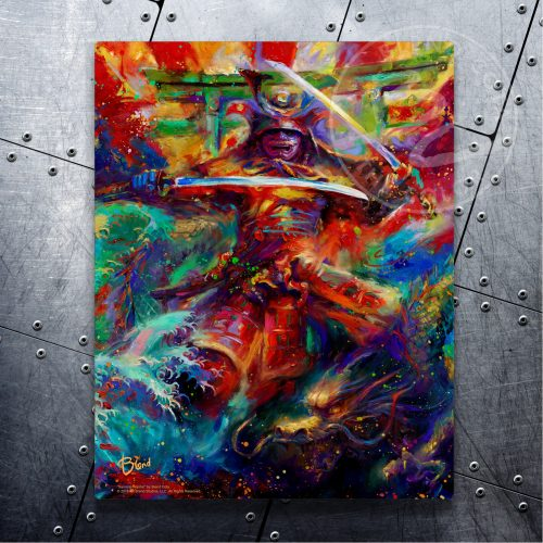 "Samurai Warrior - 11"" x 14"" Floating Metal Prints"