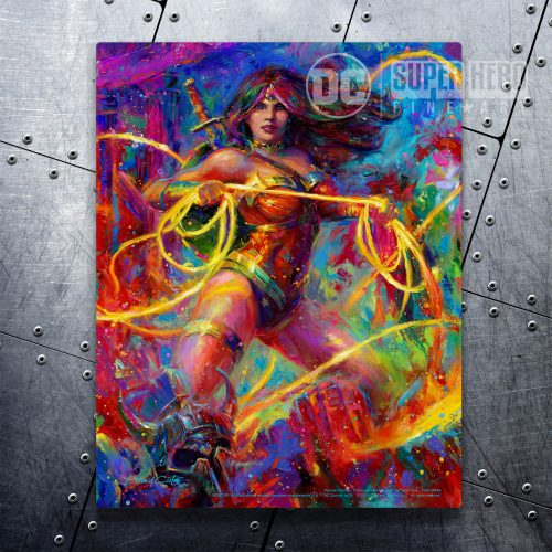"Wonder Woman - Themyscira's Champion - 11"" x 14"" Floating Metal Prints"
