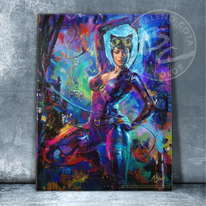 "Catwoman - 11"" x 14"" Floating Acrylic Prints"