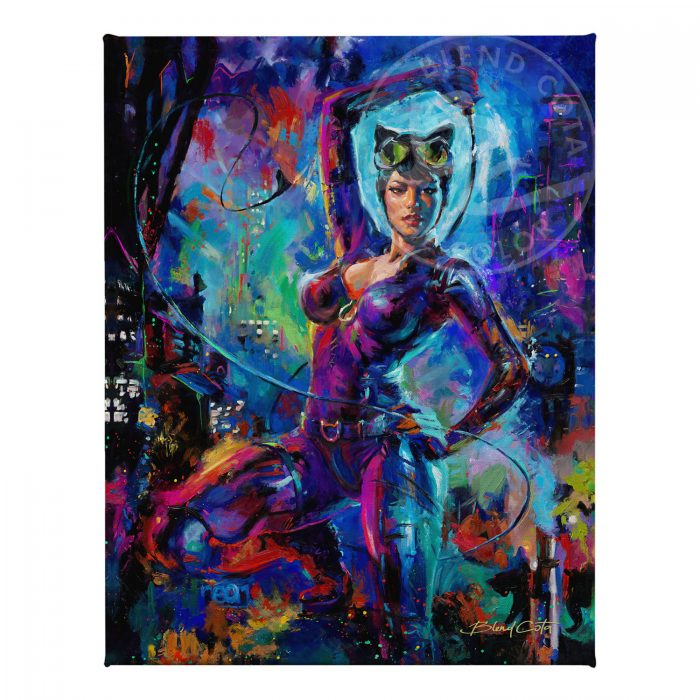 "Catwoman - 11"" x 14"" Gallery Wrapped Canvas"