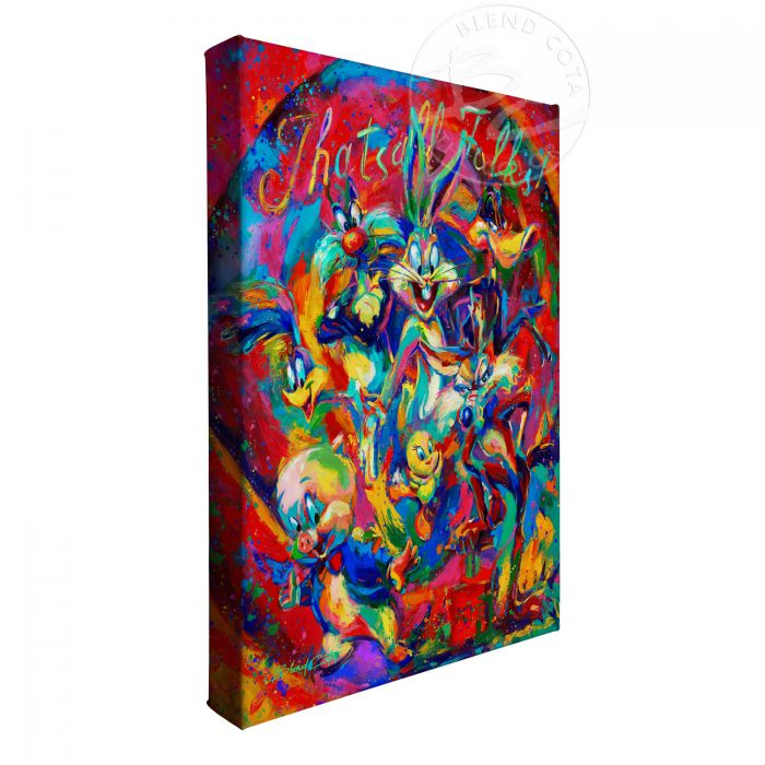 """That's All Folks - 11"""" x 14"""" Gallery Wrapped Canvas"""