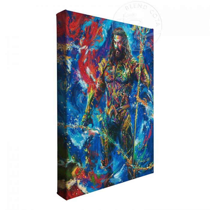 "Aquaman - 14"" x 11"" Gallery Wrapped Canvas"